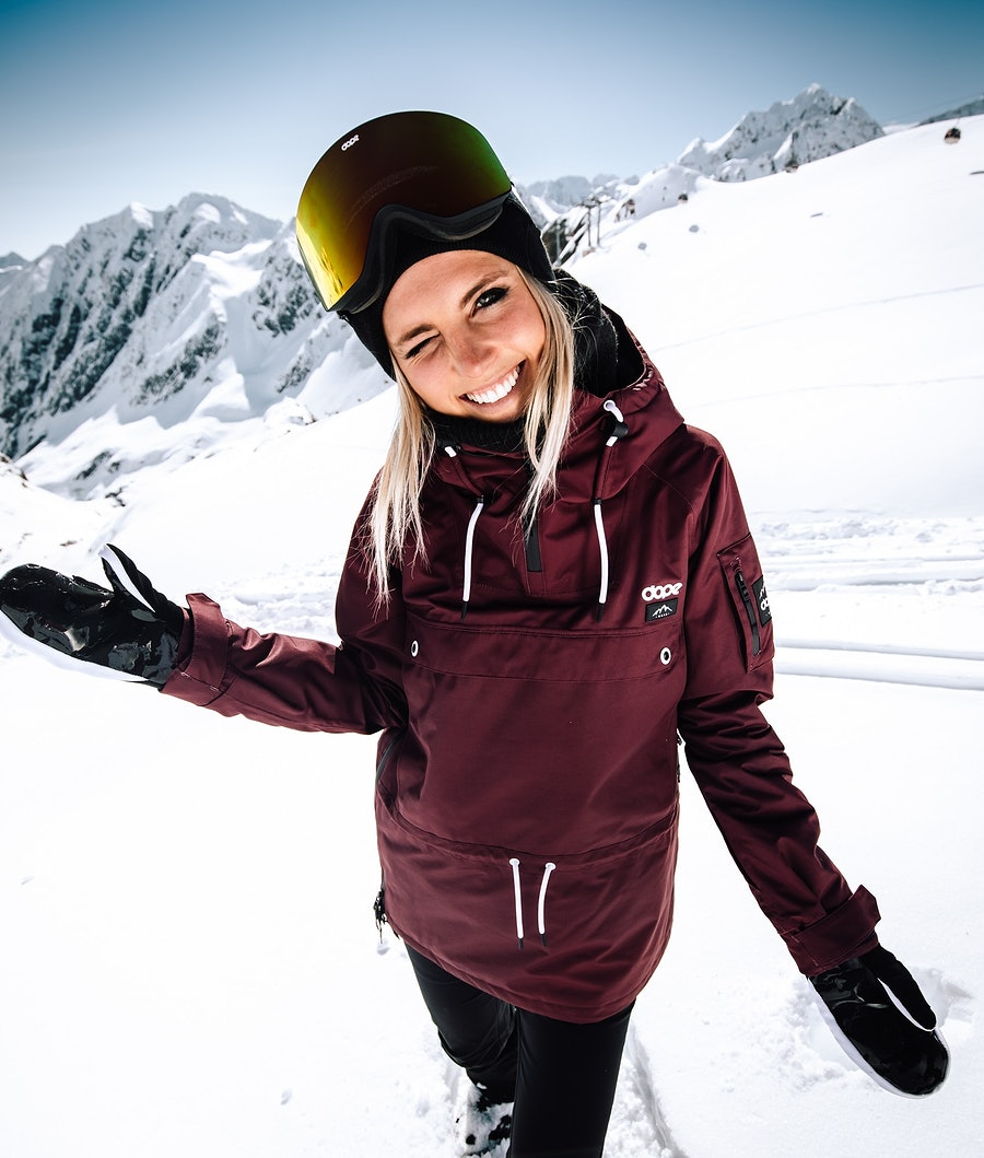 Dope Annok W Skijakke Dame Burgundy