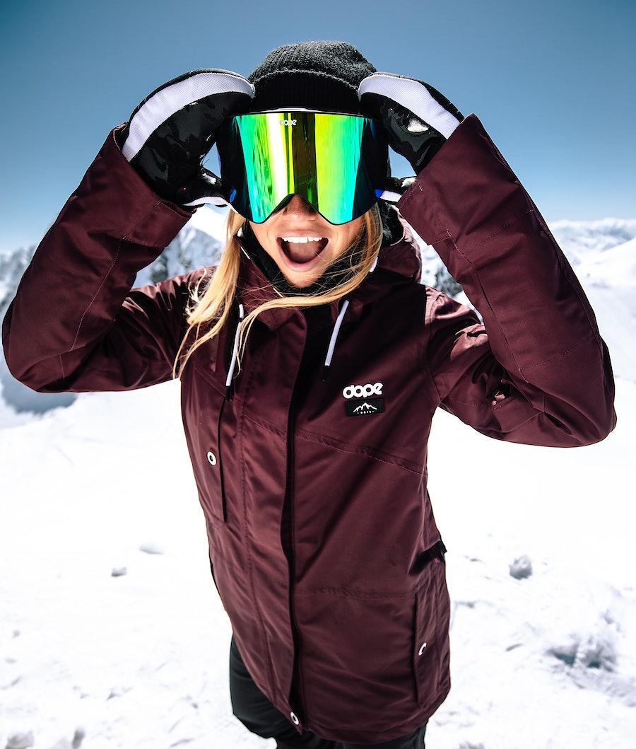 Dope Adept W Veste de Ski Femme Burgundy