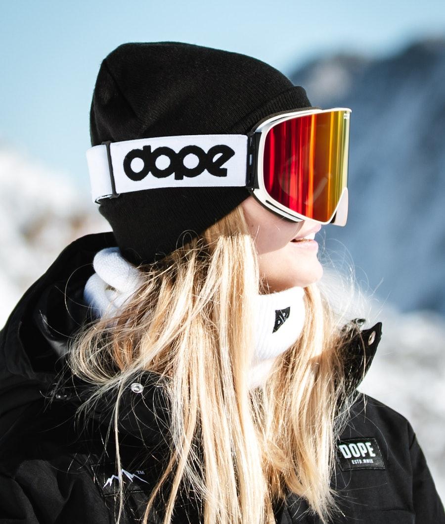 Dope Flush OG Masque de ski Femme White W/White Red Mirror