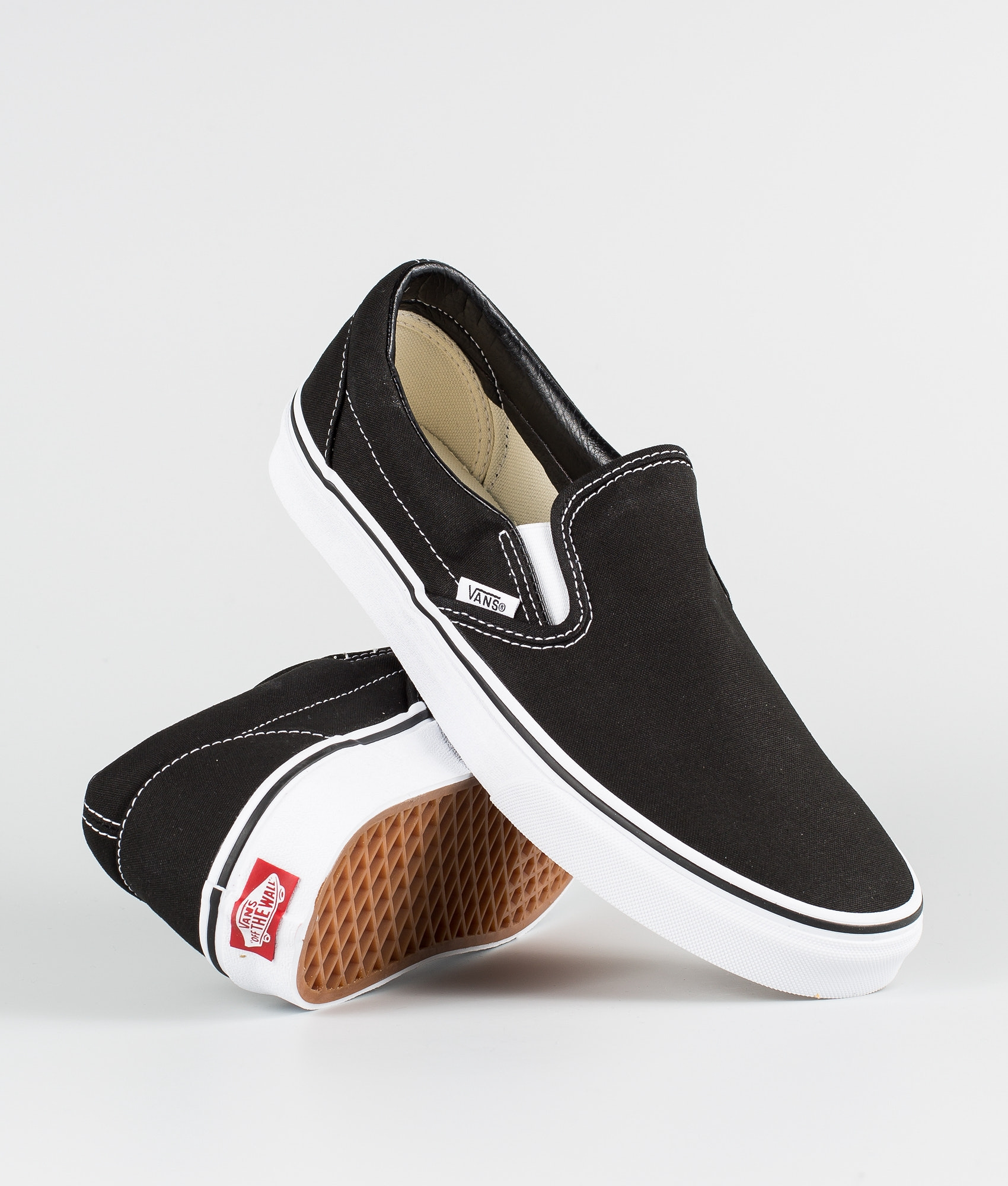 689149268a Vans Classic Slip-On Shoes Black Pewter Checkerboard - Ridestore.com