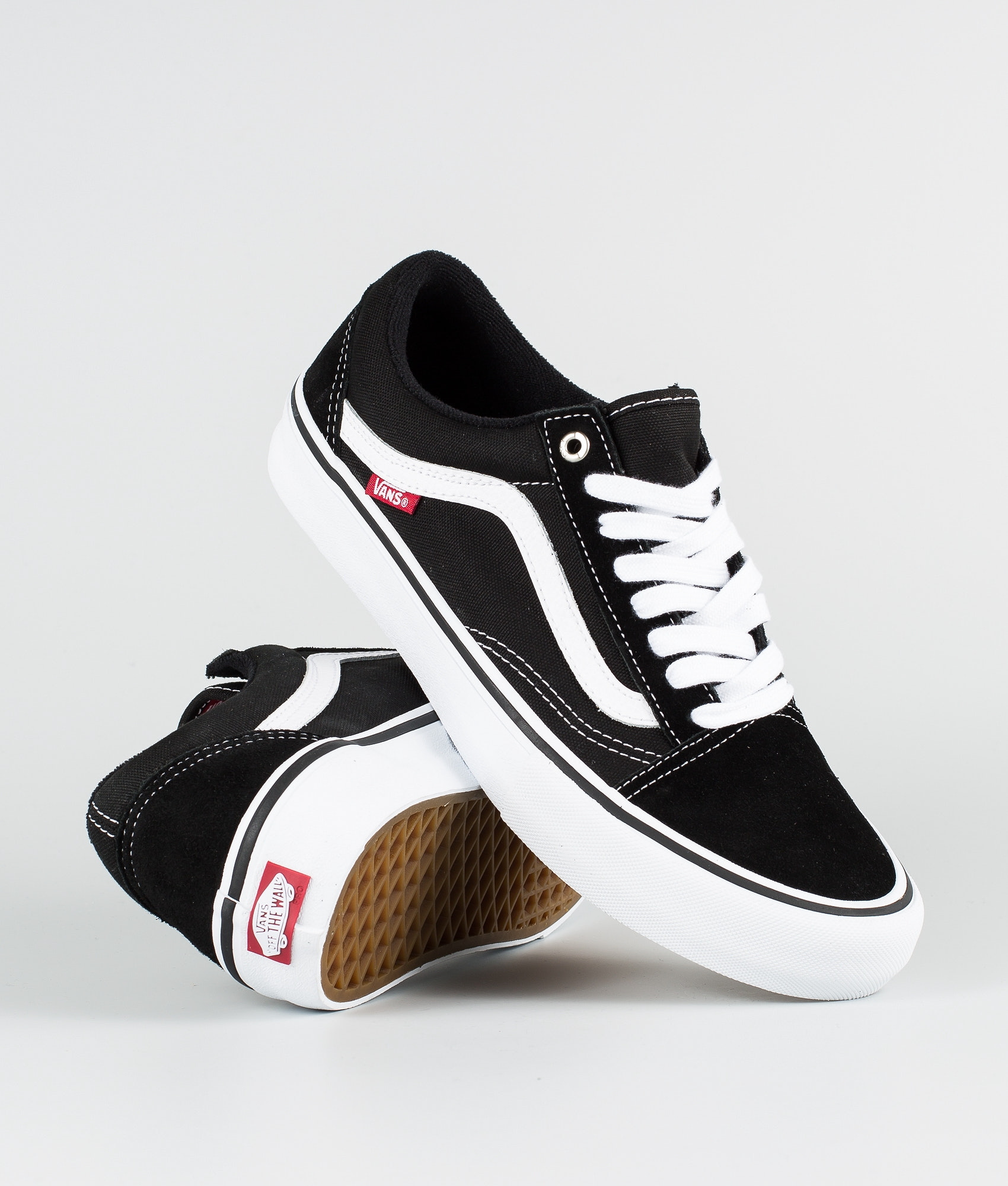 d87daaa7c7e Vans Old Skool Pro Shoes Black White - Ridestore.com