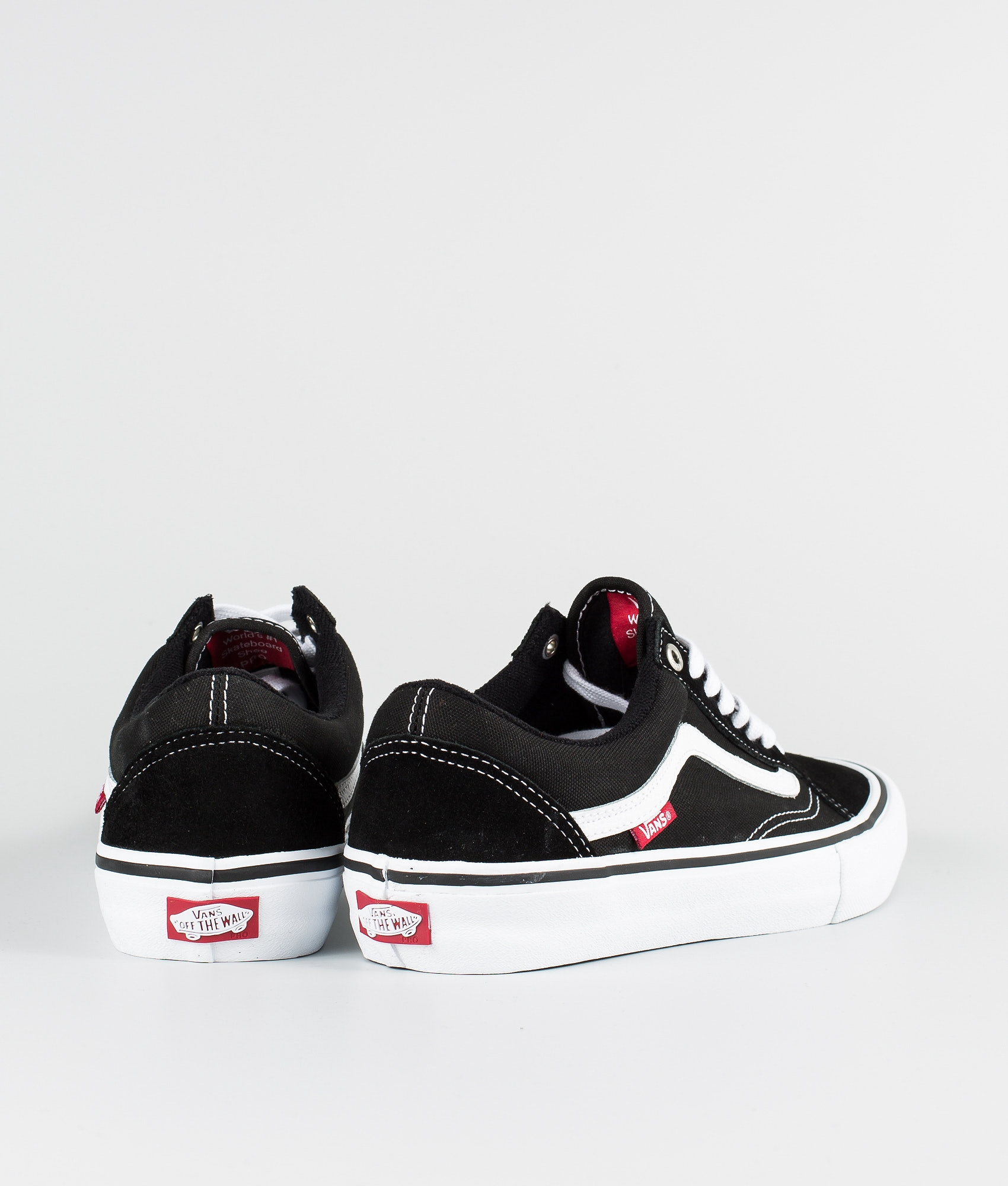 a656b81110 Vans Old Skool Pro Shoes Black White - Ridestore.com