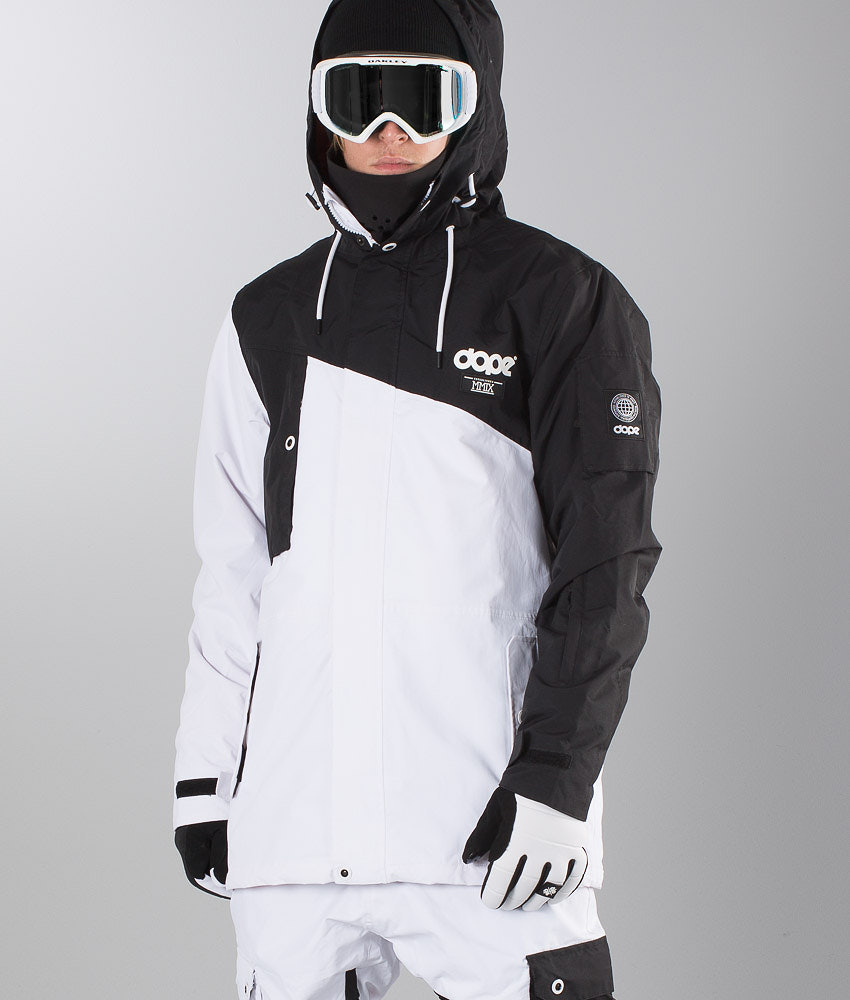 61ddc414a3 Dope Adept 17 Snowboard Jacket Black White - Ridestore.com