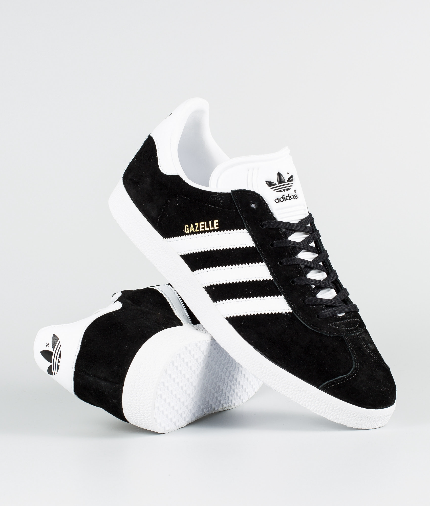 ccc0bc60ba9c3 Adidas Originals Gazelle Shoes Core Black/White/Goldmt