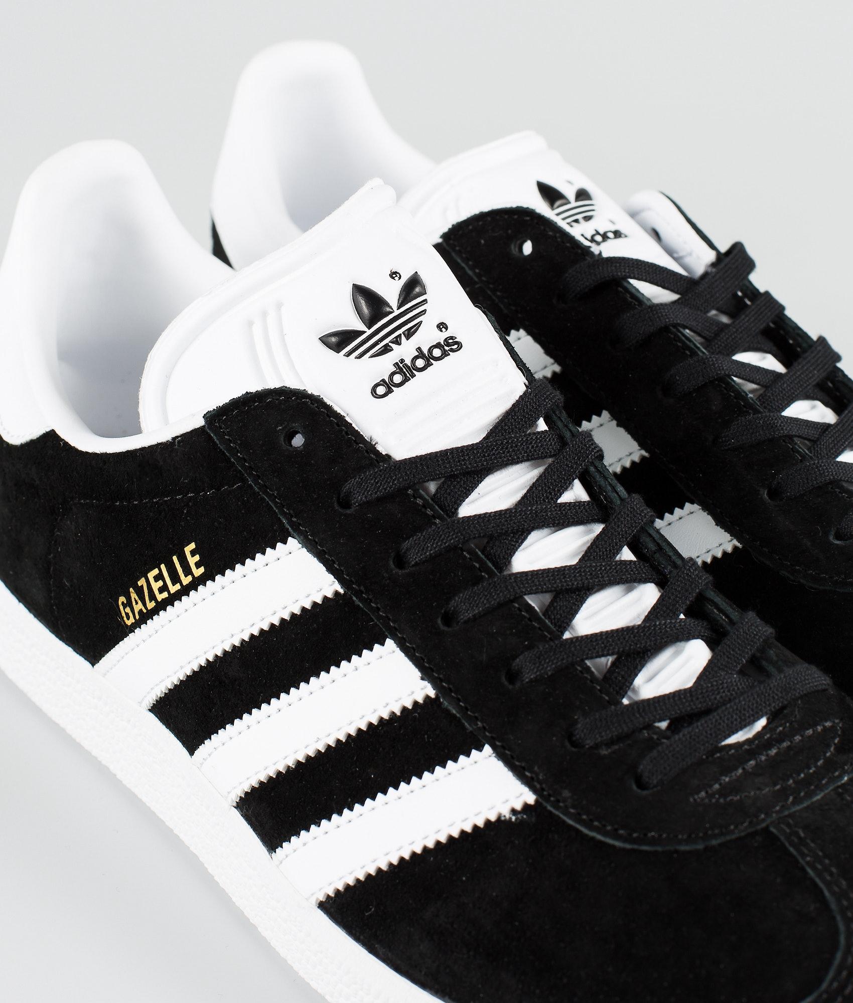 Adidas Originals Gazelle Shoes Core Black White Goldmt - Ridestore.com c26ab5a2d