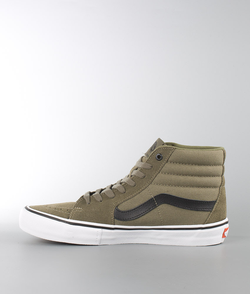 2937f70f56 Vans Sk8-Hi Pro Shoes (Dakota Roche) Burnt Olive Black - Ridestore.com