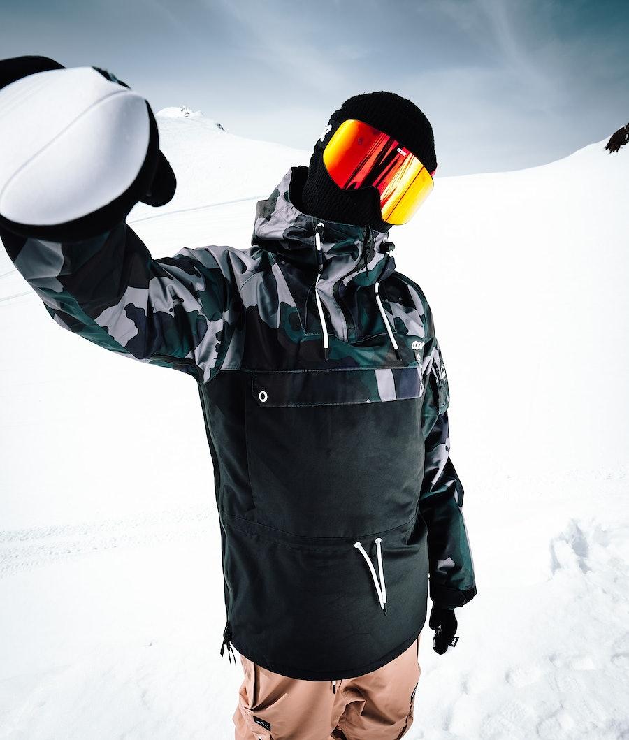 Dope Annok Giacca da Snowboard Grape Green Camo