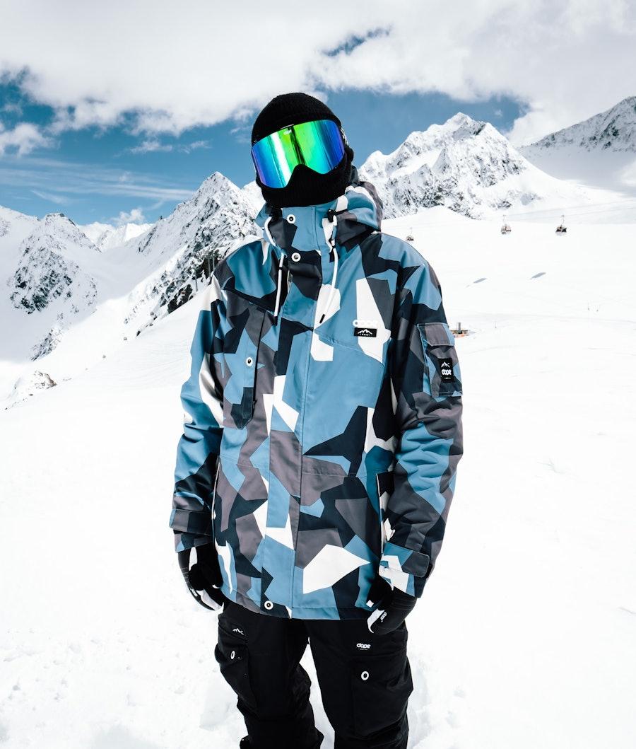Dope Adept Renewed Snowboardjacka Blue Camo