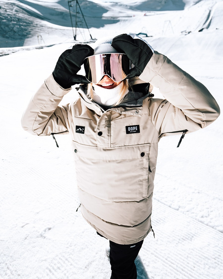 Dope Puffer W Snowboardjacka Dam Sand