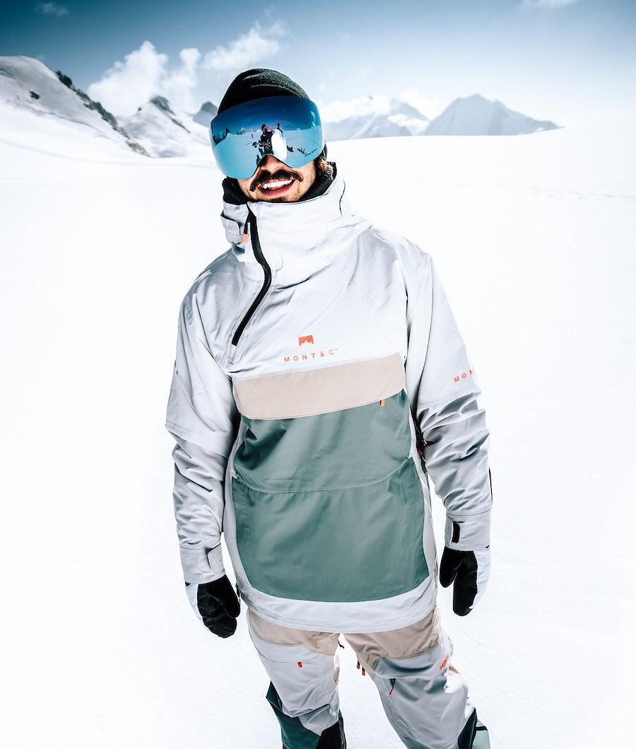 Montec Dune Snowboard Jacket Light Grey Atlantic Desert