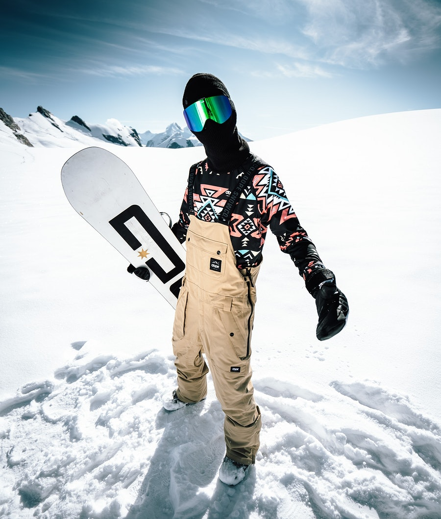 Dope Notorious BIB Snow Pants Khaki