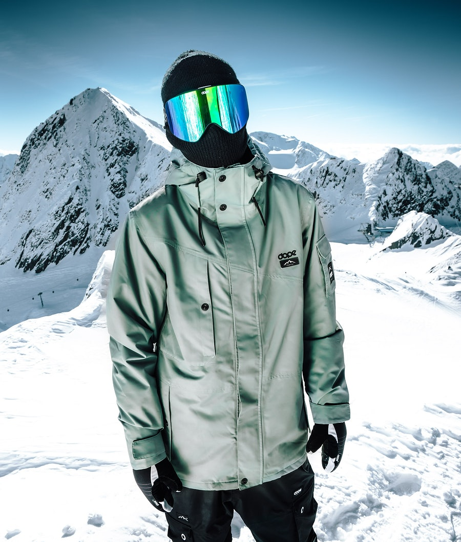 Dope Adept Snowboardjakke Faded Green
