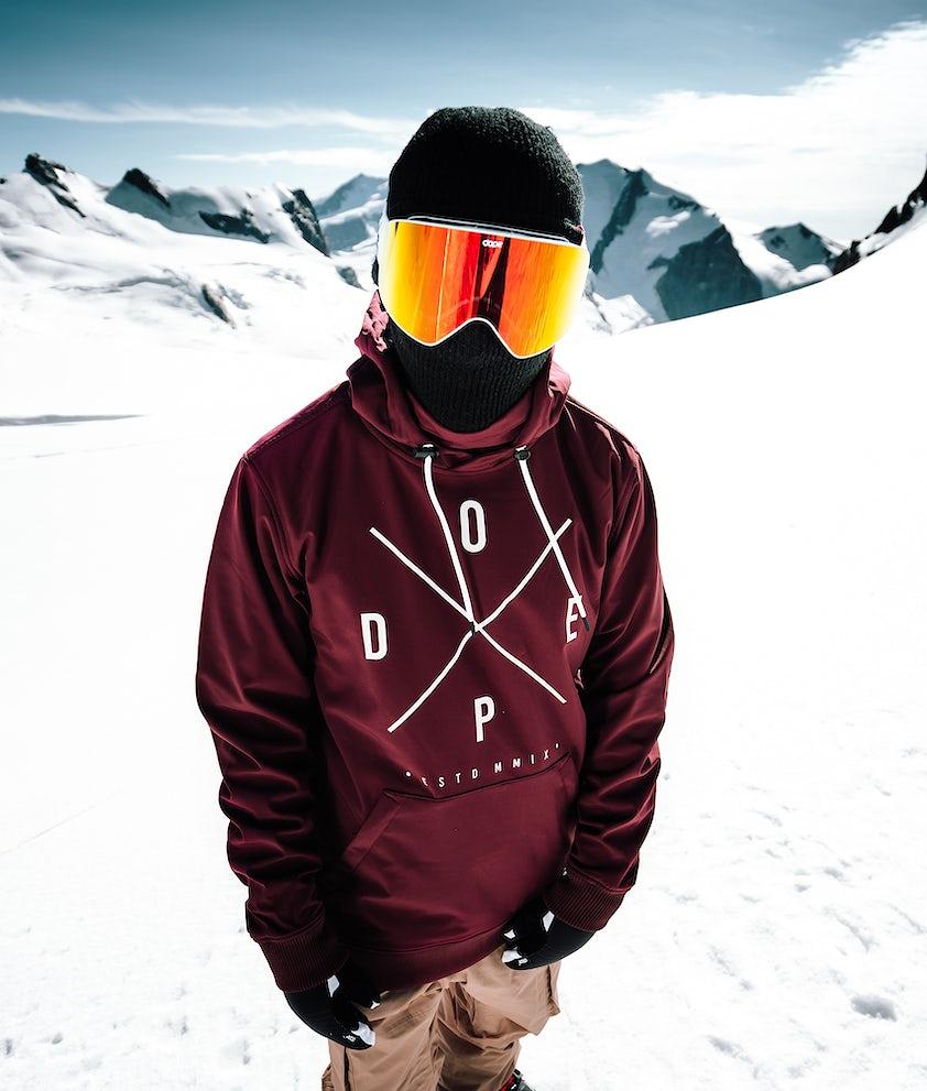 Yeti Snowboard Jacket Men Burgundy