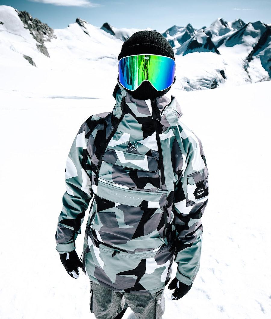 Dope Akin Snowboardjakke Faded Green Camo