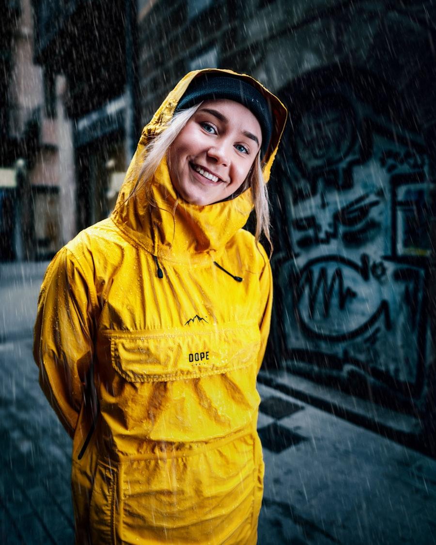 Dope Drizzard W Women's Rain Jacket Yellow