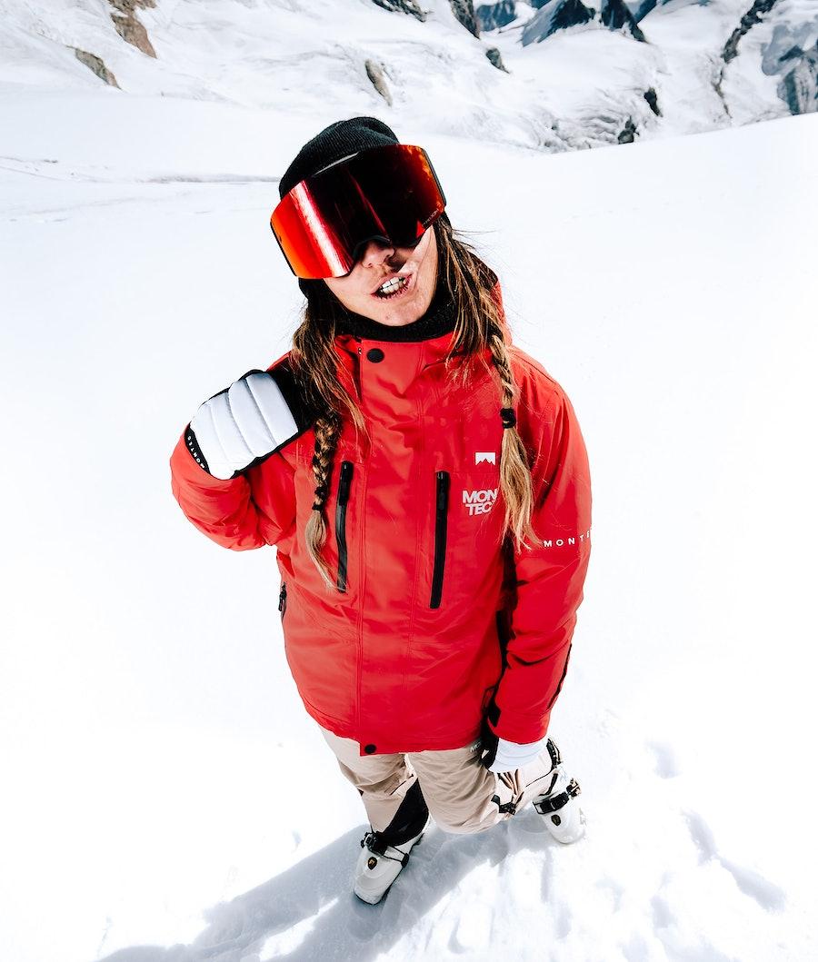Montec Fawk W Women's Ski Jacket Red