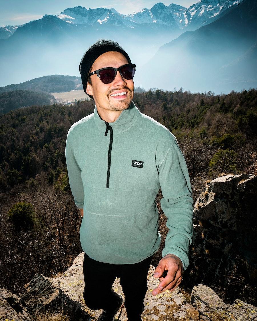 Dope Loyd Polartec Fleece Sweater Faded Green