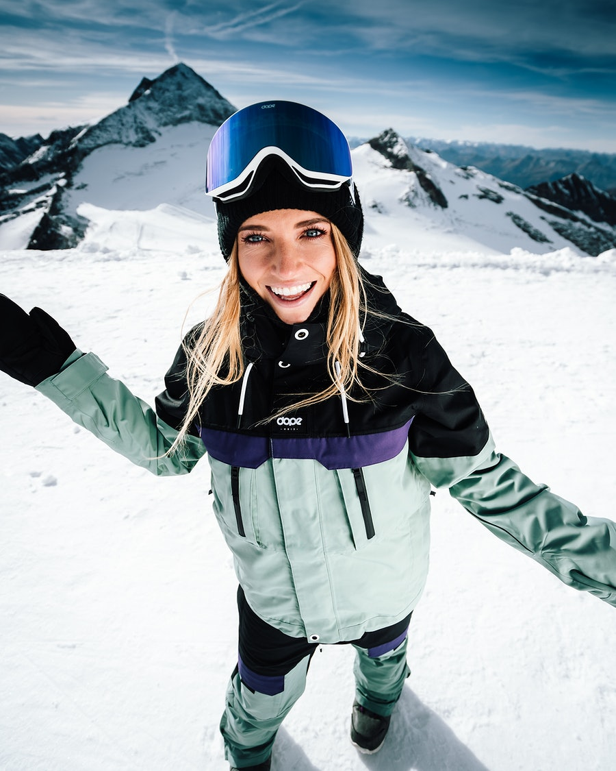 Dope Lunar W Veste de Snowboard Femme Black Grape Faded Green