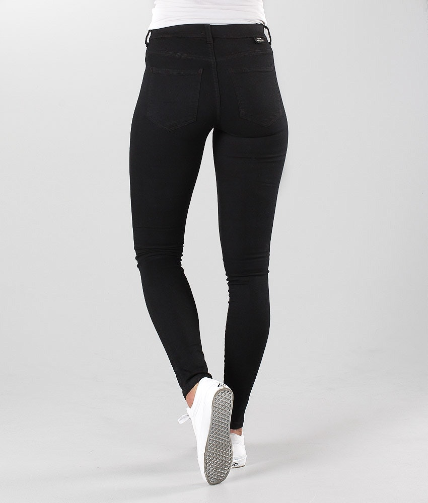 Dr Denim Plenty Pantaloni Donna Black