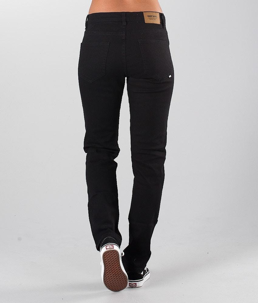 Sweet SKTBS Sweet Slim Colored Unisex Pantaloni Donna Black