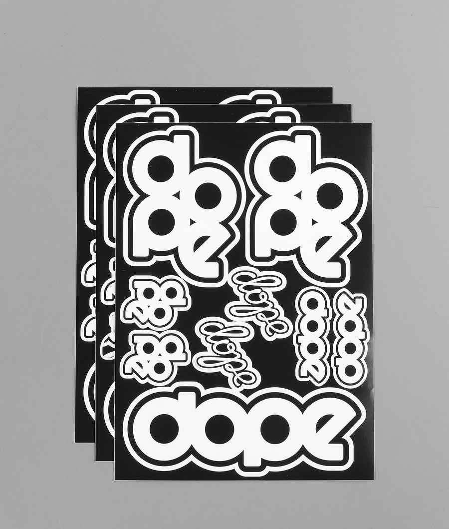 Dope Original X 3 Stickers Black/White