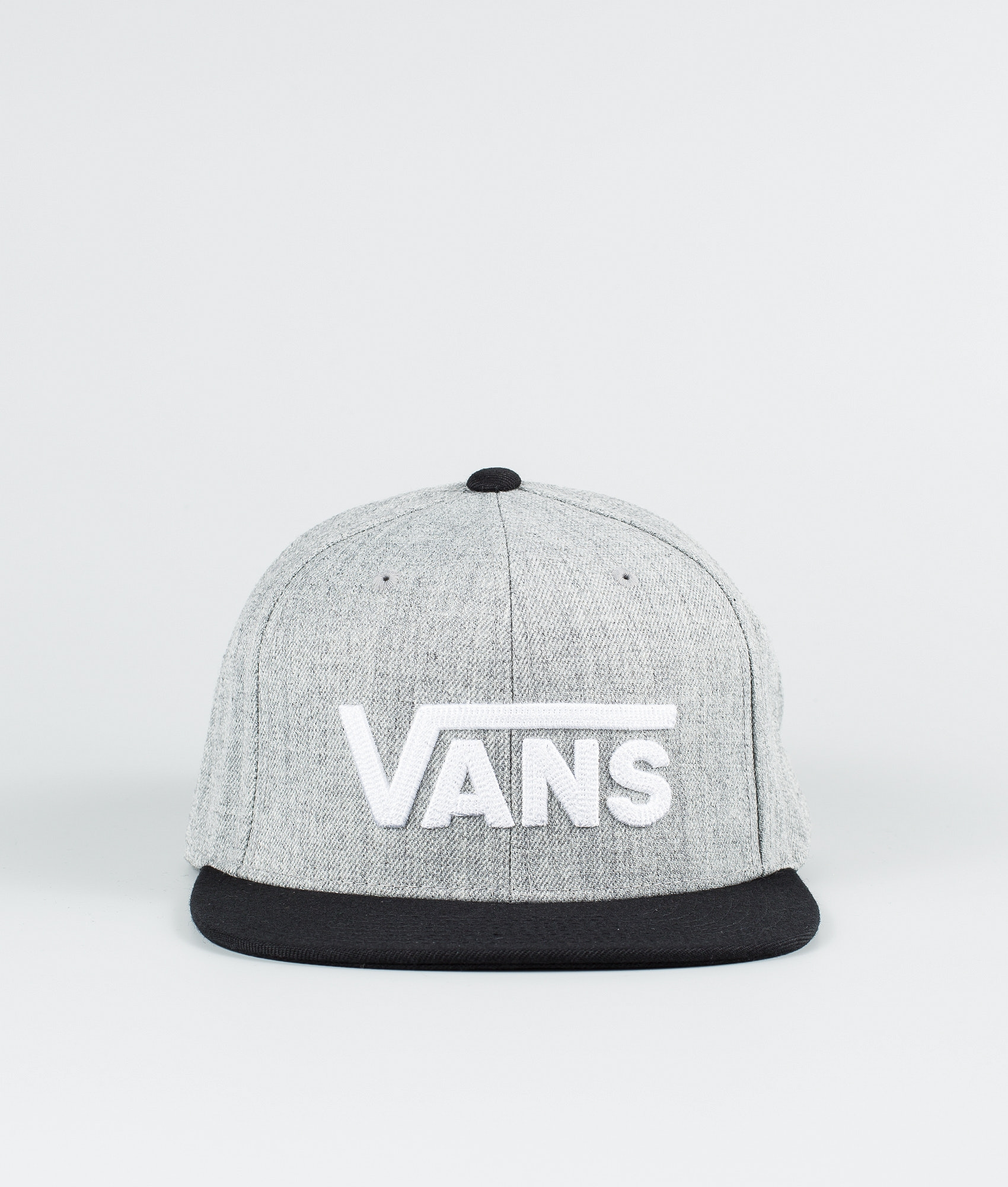 57f8cd1dcd0243 Vans Drop V II Snapback Cap Heather Grey Black - Ridestore.com