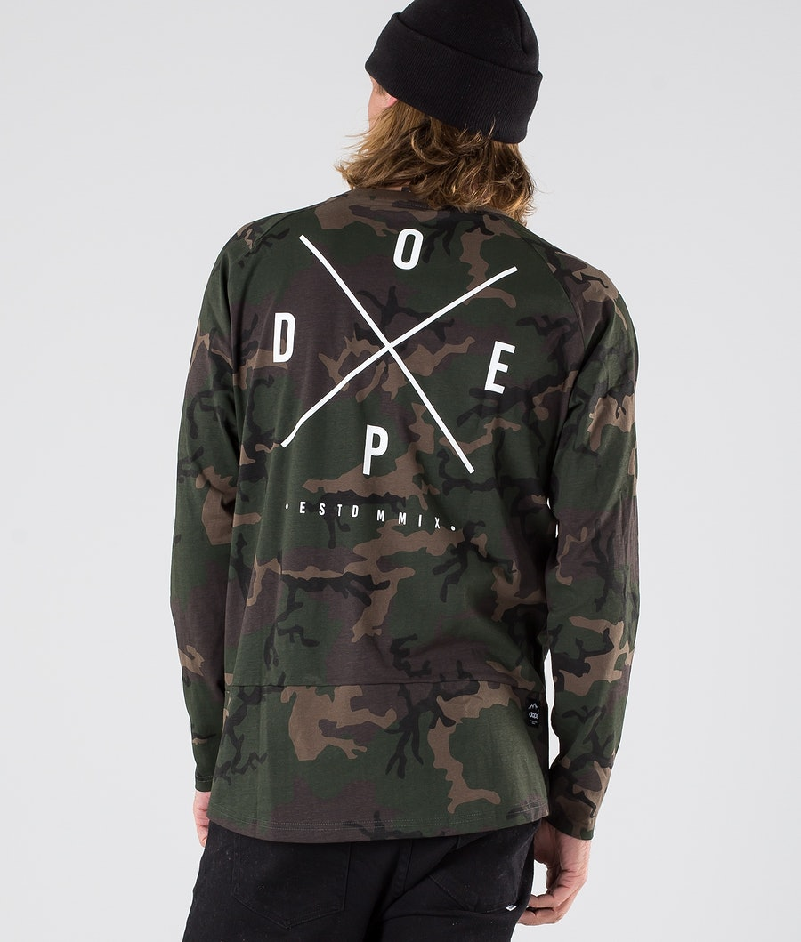 Dope 2X-Up Longsleeve Woodcamo