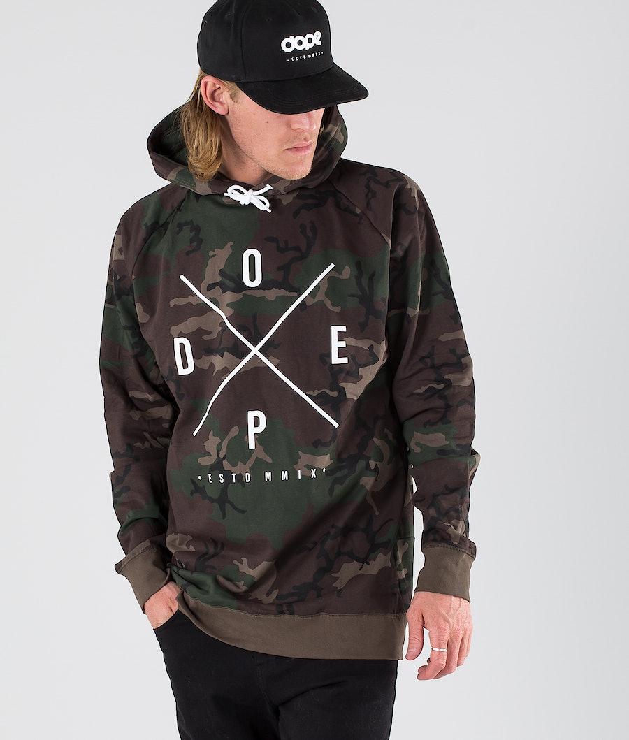Dope 2X-Up Hood Woodcamo