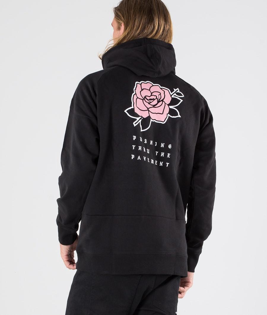 Dope Rose Hoodie Black
