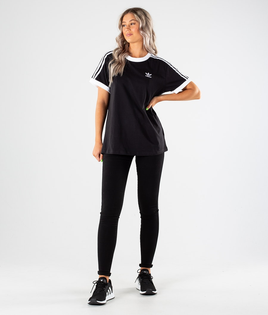 Adidas Originals 3 Stripes T-Shirt Damen Black