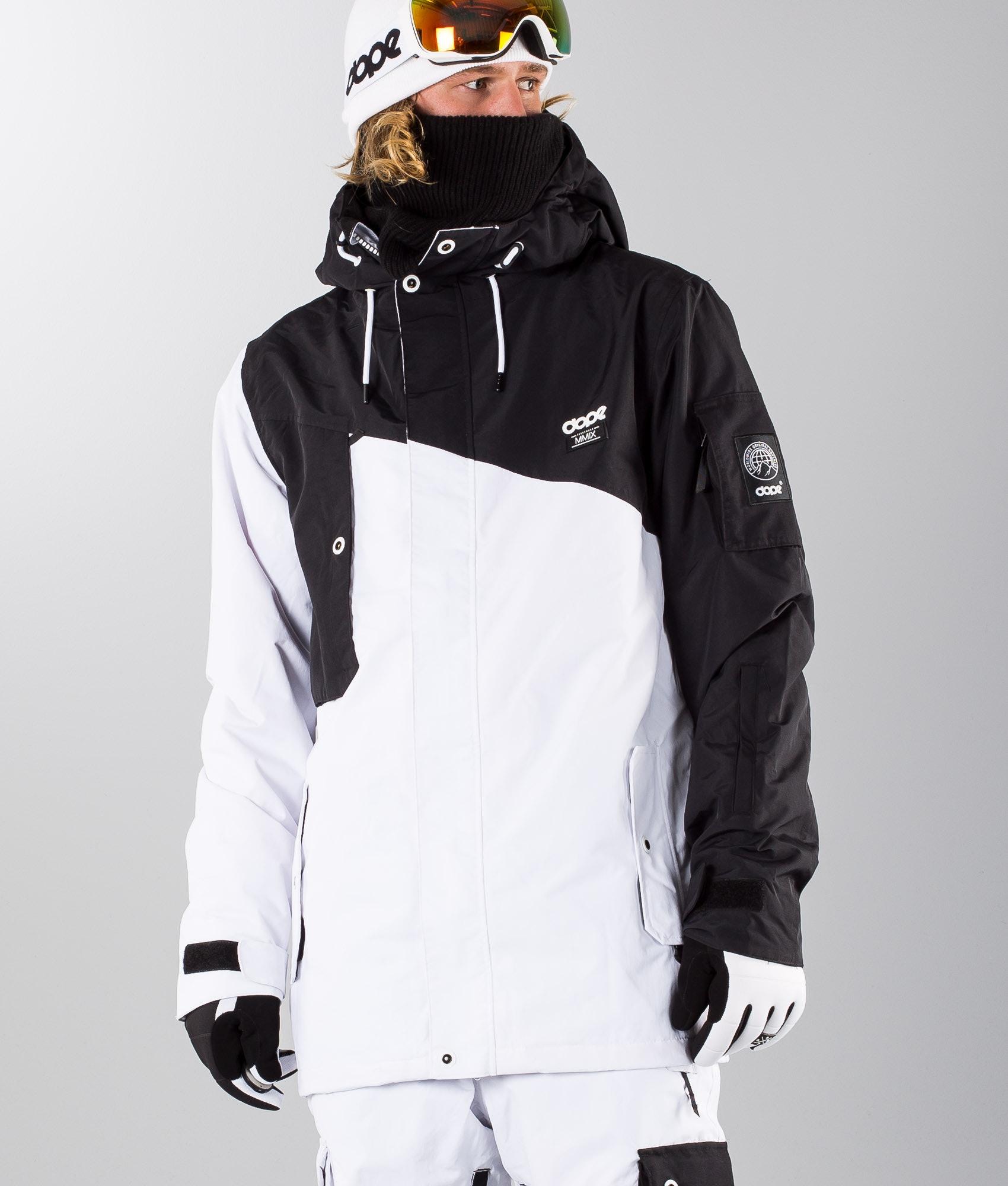 e8bf9575cc0e Dope Adept Ski Jacket Black White - Ridestore.com