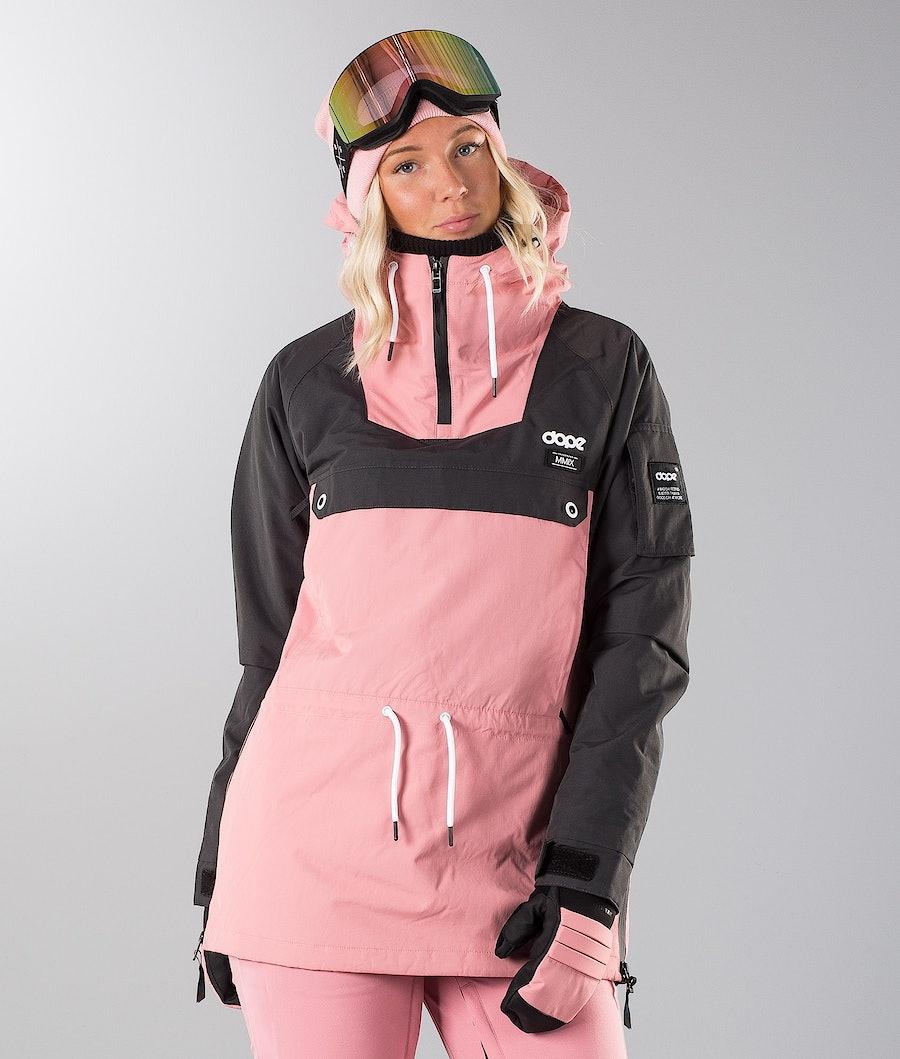 Dope Annok W 18 Renewed Snowboard Jacket Dark Grey/Pink