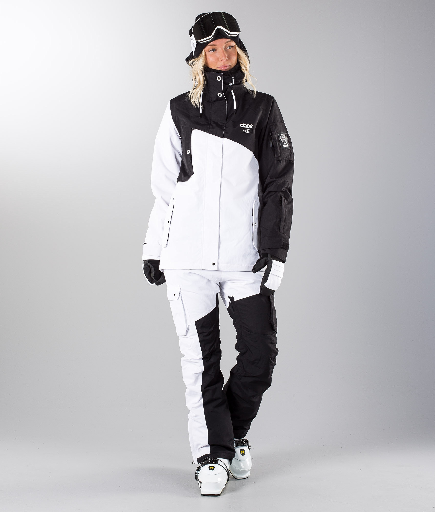 78e412a2b46b Dope Adept W Ski Jacket Black White - Ridestore.com