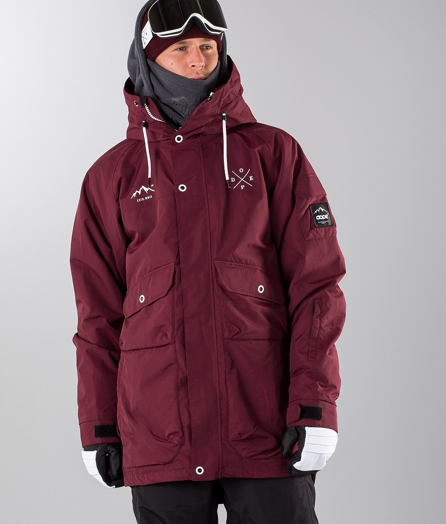 Dope Hoax II Renewed Snowboardjacka Burgundy