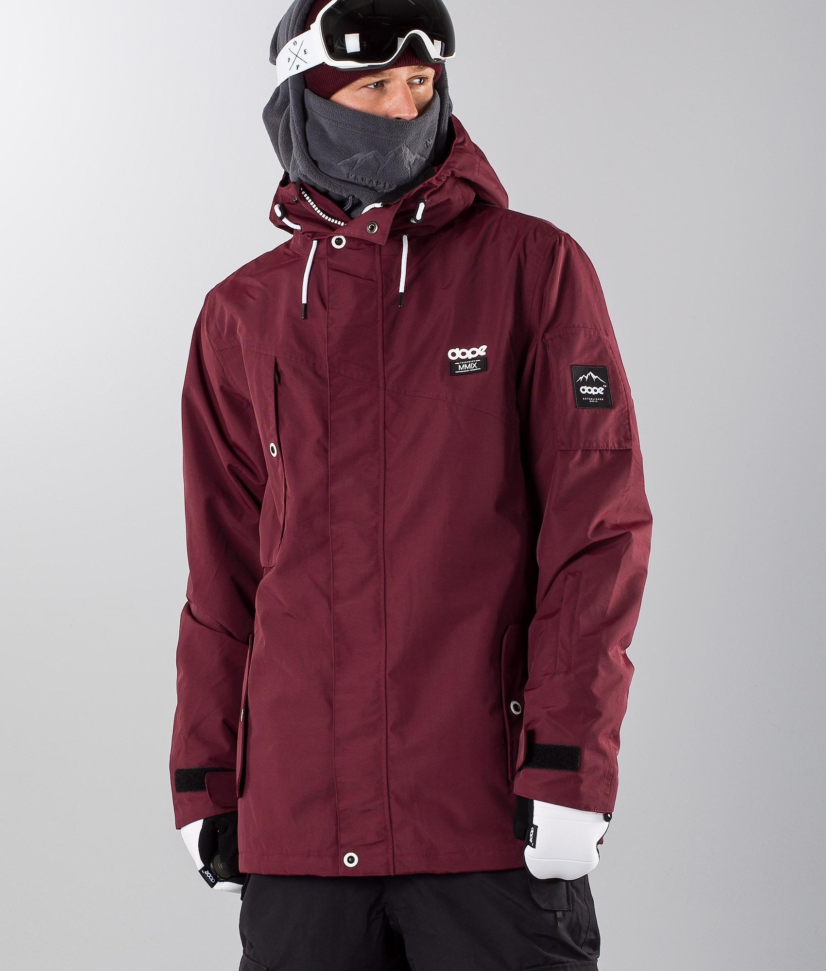 5e7cbb149 Dope Adept Snowboard Jacket Burgundy