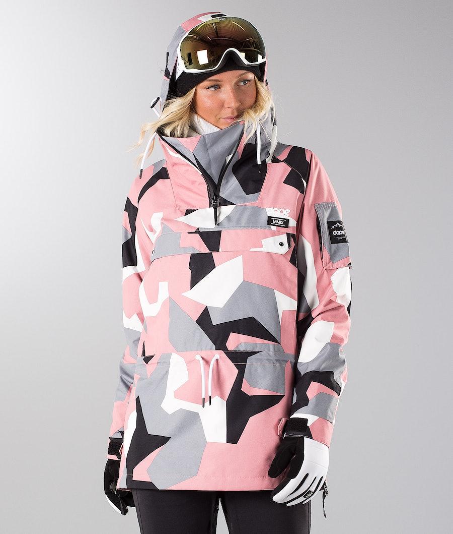 Dope Annok W 18 Snowboardjacke Pink Camo