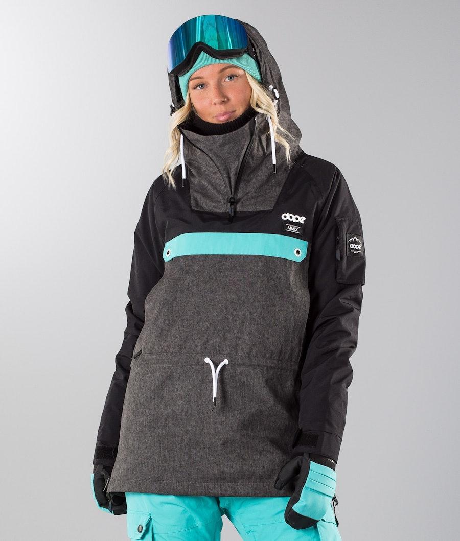 Dope Annok W 18 Renewed Snowboardjacke Dark Grey/Black/Azure