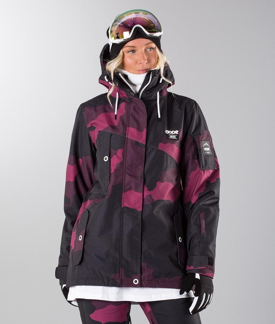 Dope Adept W 18 Renewed Snowboard Jacket Purple Camo