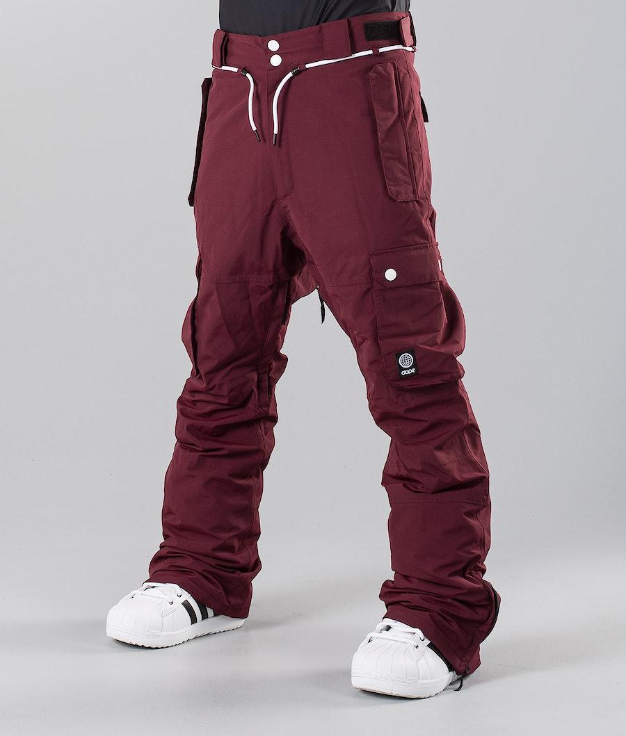 Dope Iconic 18 Pantalon de Snowboard Burgundy