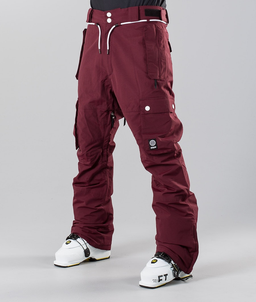 Dope Iconic 18 Ski Pants Burgundy