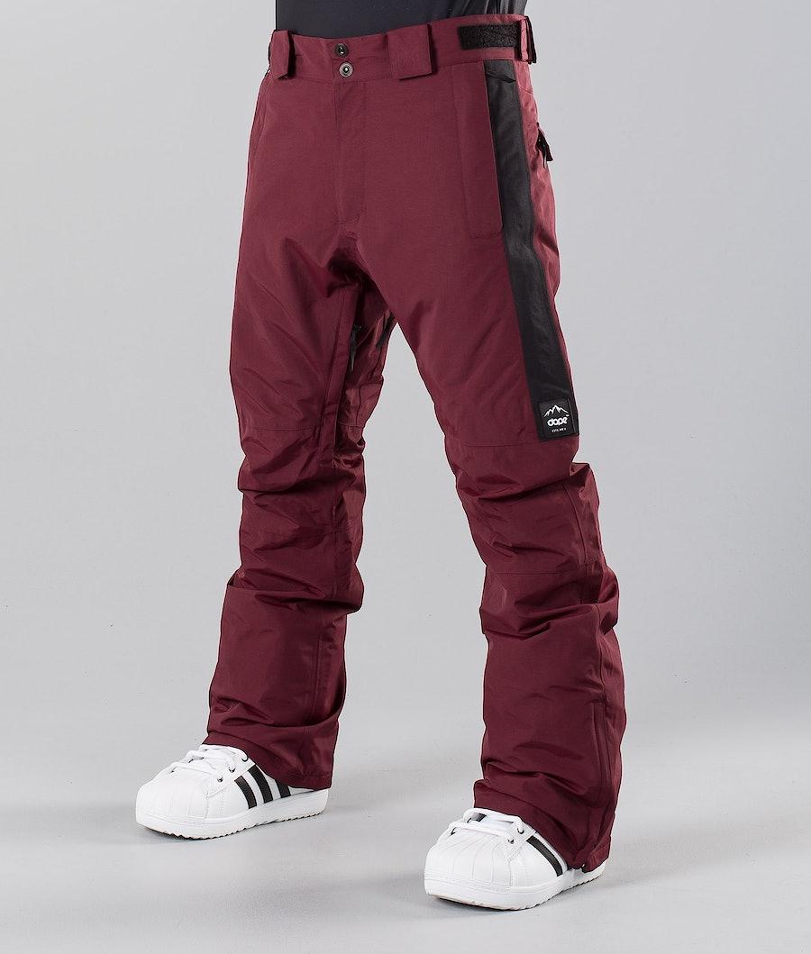 Dope Hoax II 18 Snowboard Pants Burgundy