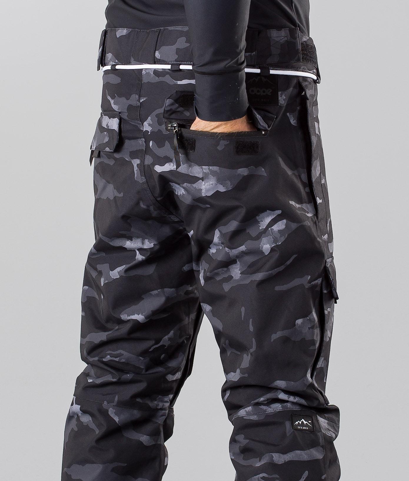 Dope Poise Ski Pants Black Camo - Ridestore.com 5b89773a866