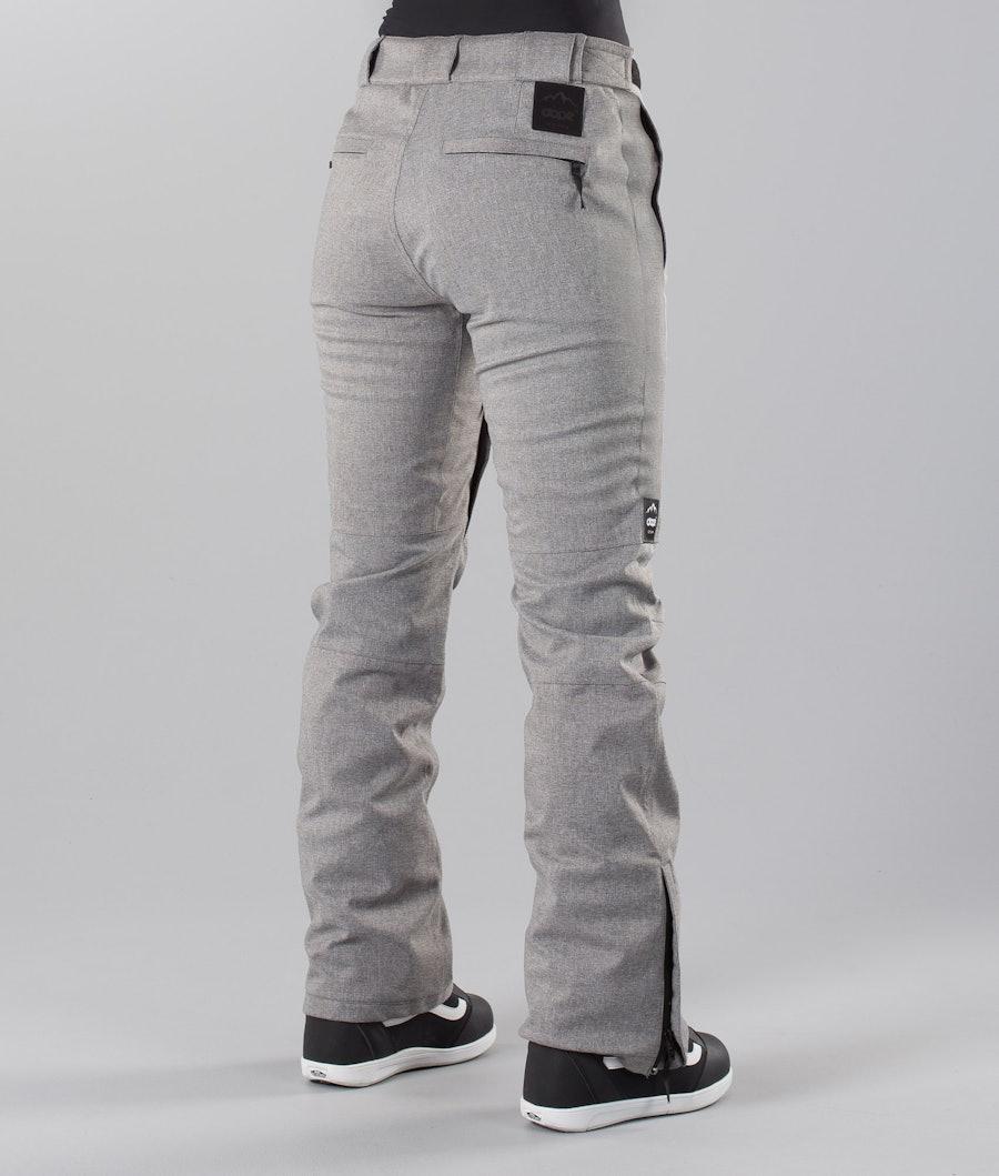 Dope Con 18 Pantaloni da Snowboard Donna Grey Melange