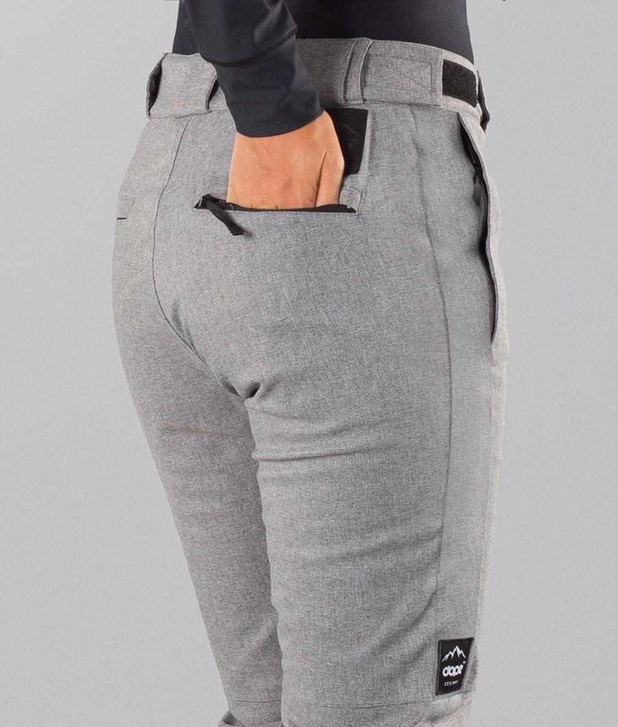 Dope Con 18 Pantalon de Ski Femme Grey Melange