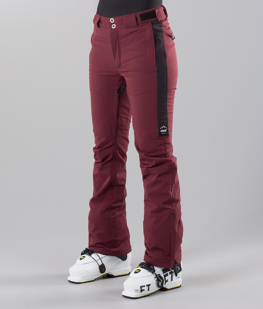 Dope Con 18 Women's Ski Pants Burgundy