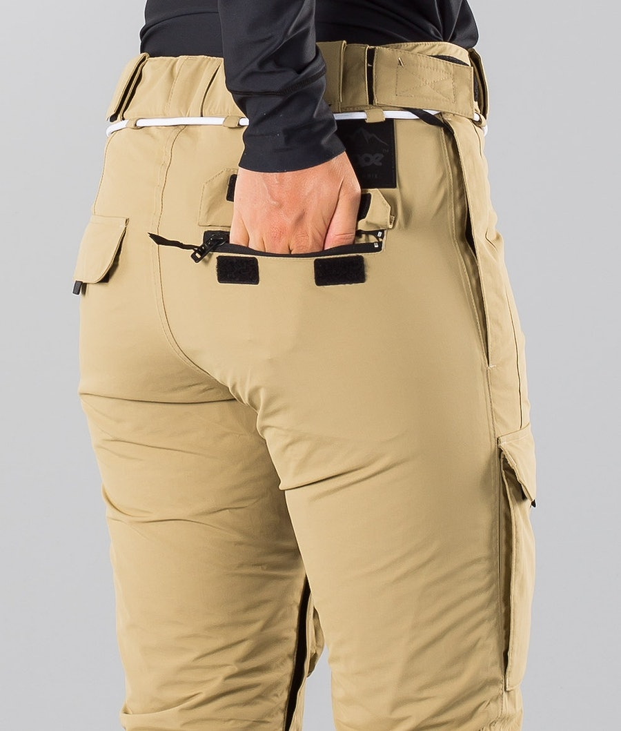 Dope Grace 18 Women's Ski Pants Khaki