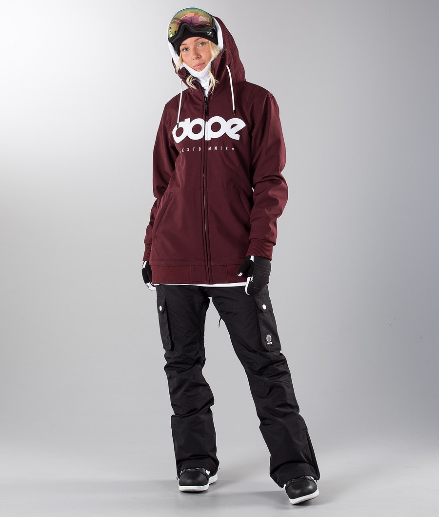 Dope Standard DO Women's Snowboard Jacket Burgundy
