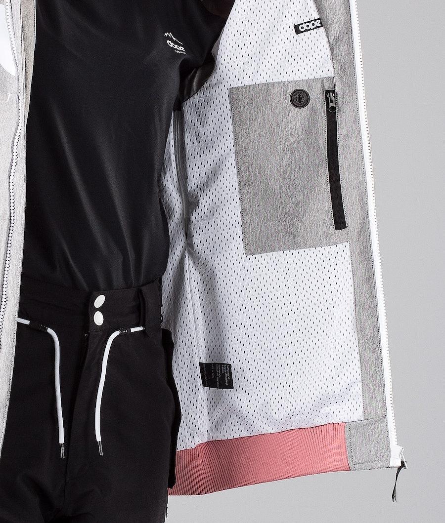 Dope Standard DO Snowboardjacke Damen Grey Melange/Pink