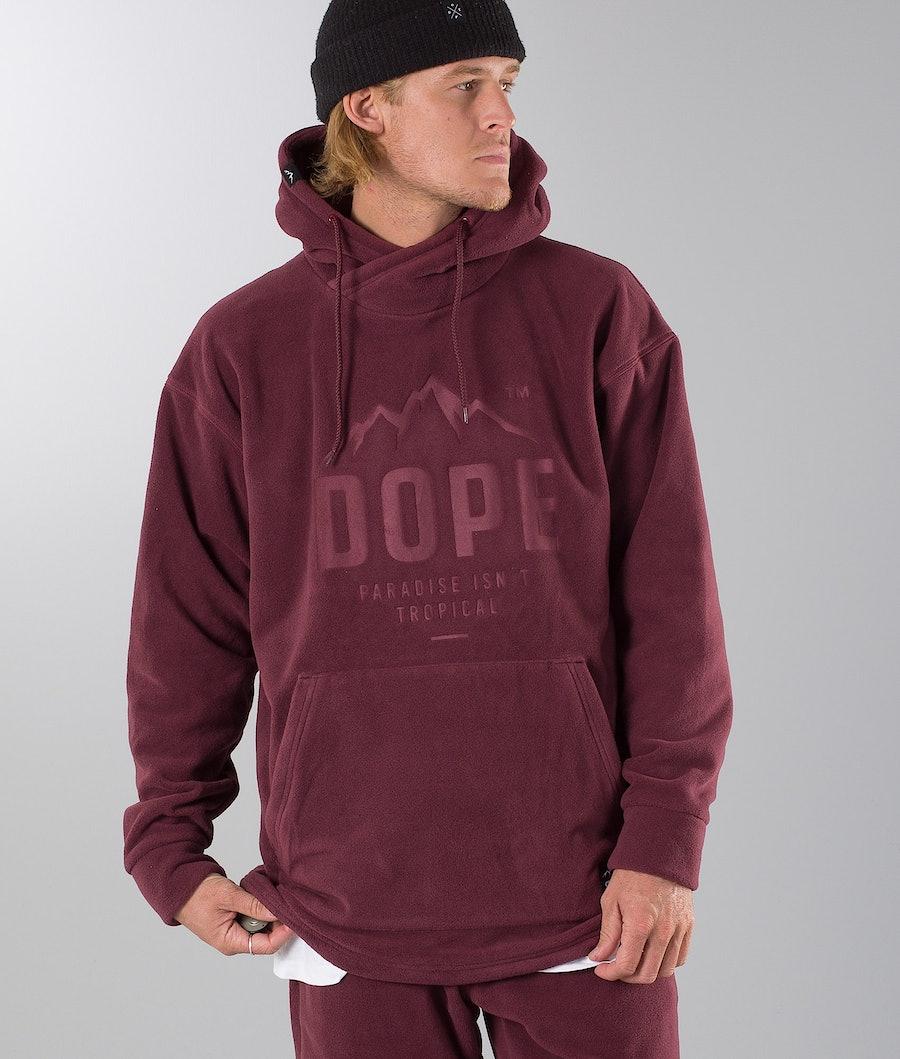 Dope Cozy Hood Burgundy