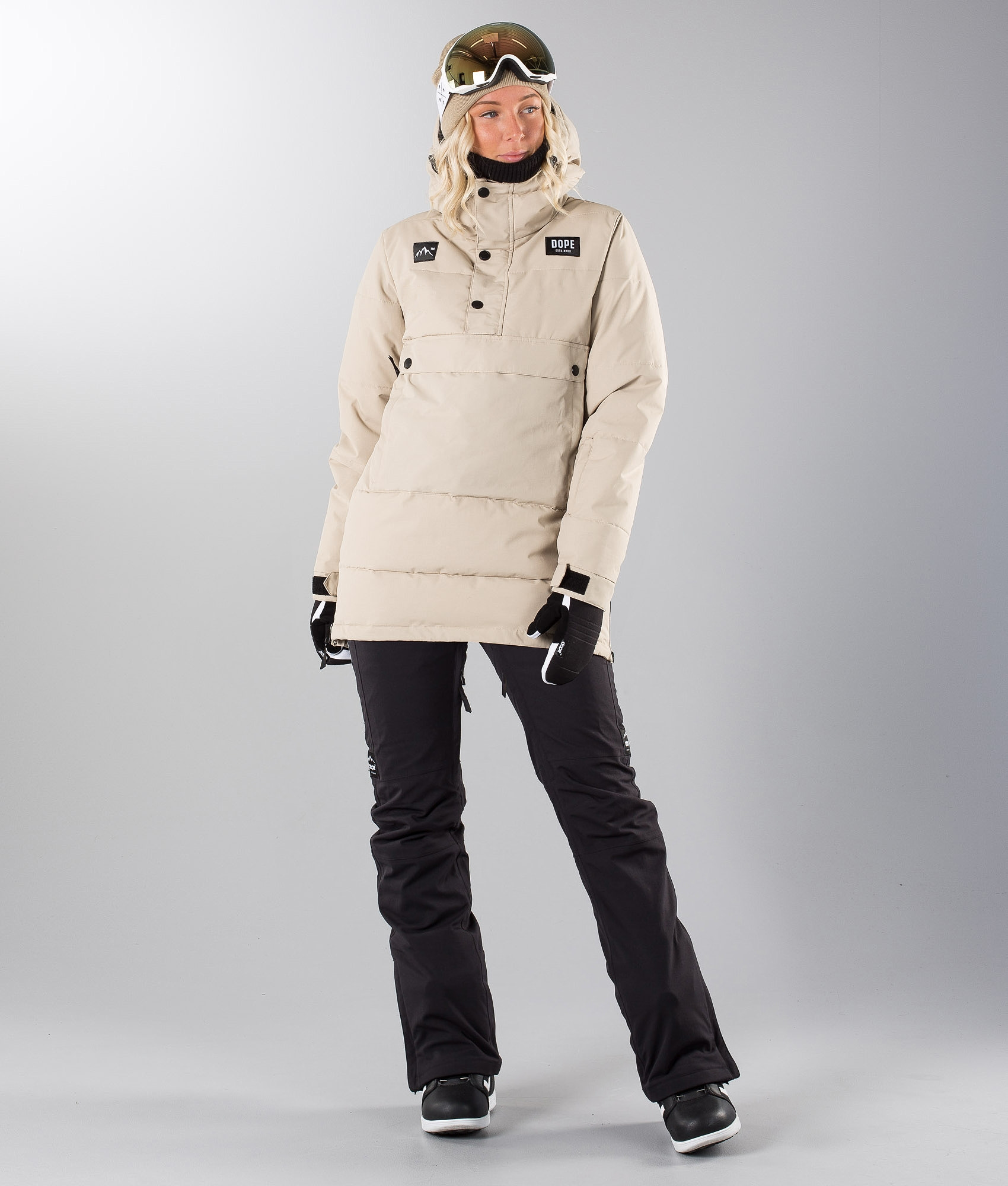 f5bcc4e663a9 Dope Puffer W Snowboard Jacket Sand - Ridestore.com